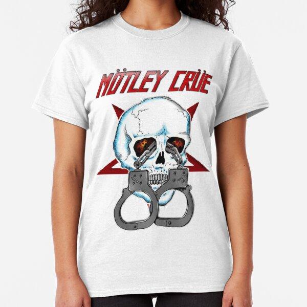 Official Motley Crue T Shirt Dr Feelgood Dagger Black Classic Rock Metal Band Classic T-Shirt