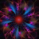 Electrik   fractal iphone case by Elaine Manley
