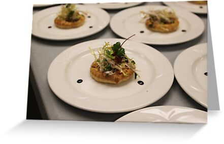Pear Tartlet  with Cabrelese Blue by Chefleclef