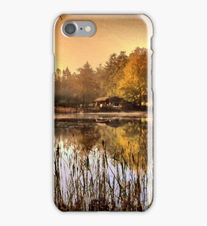 Morning light by The Lake iPhone Case/Skin