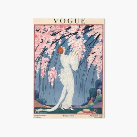 vintage vogue cover - 1918 Art Board Print