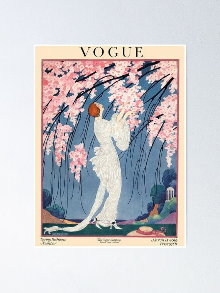 Alternate view of vintage vogue cover - 1918 Poster