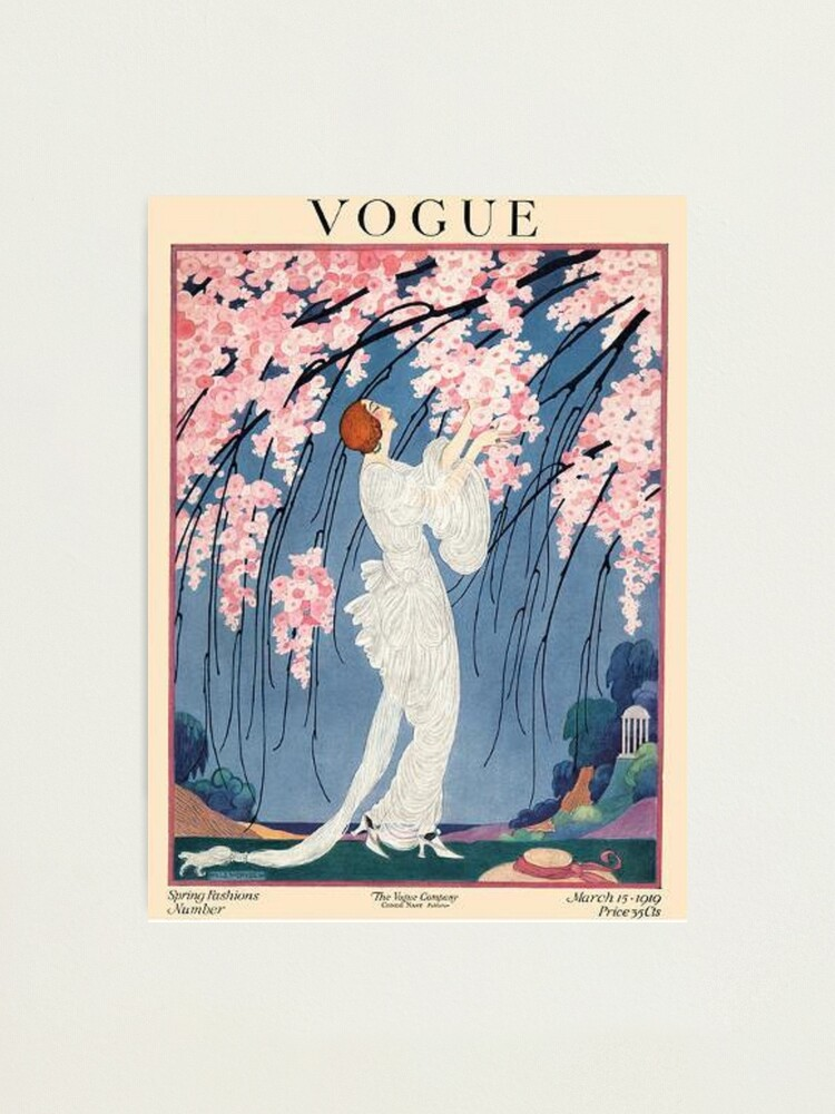 Alternate view of vintage vogue cover - 1918 Photographic Print