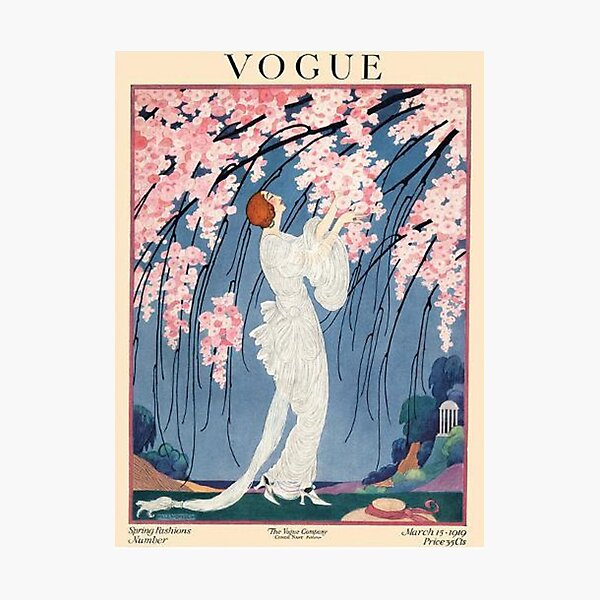 vintage vogue cover - 1918 Photographic Print