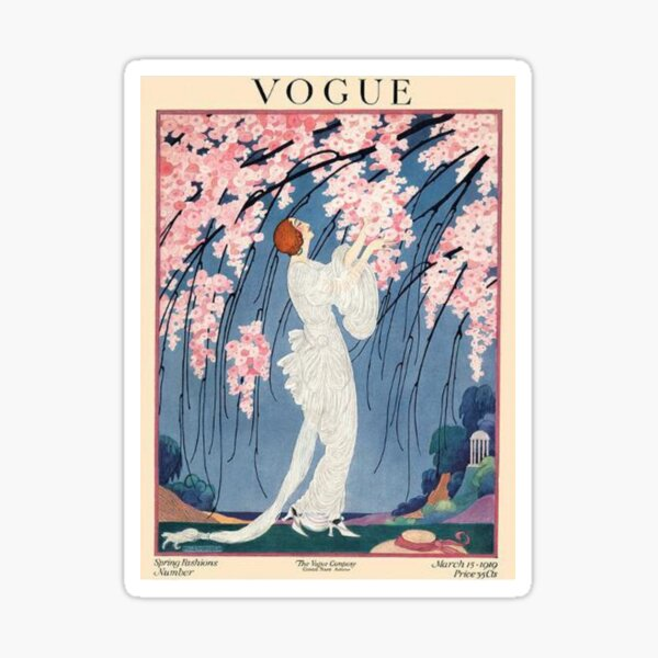 vintage vogue cover - 1918 Sticker
