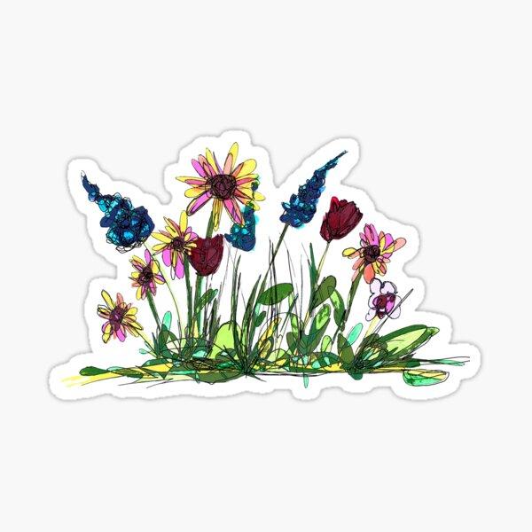 A patch of wild doodles Sticker