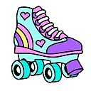 80 S Retro Girls Roller Skate For Roller Skating Lovers Photographic Print By Mariekawaii Redbubble