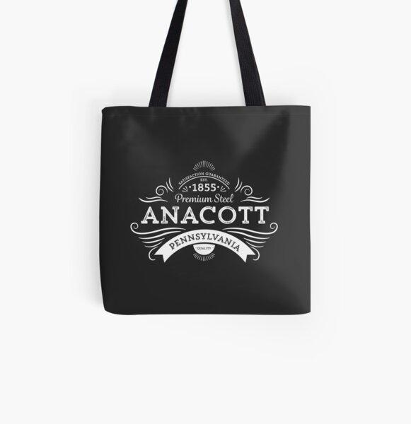 Anacott Steel Logo All Over Print Tote Bag