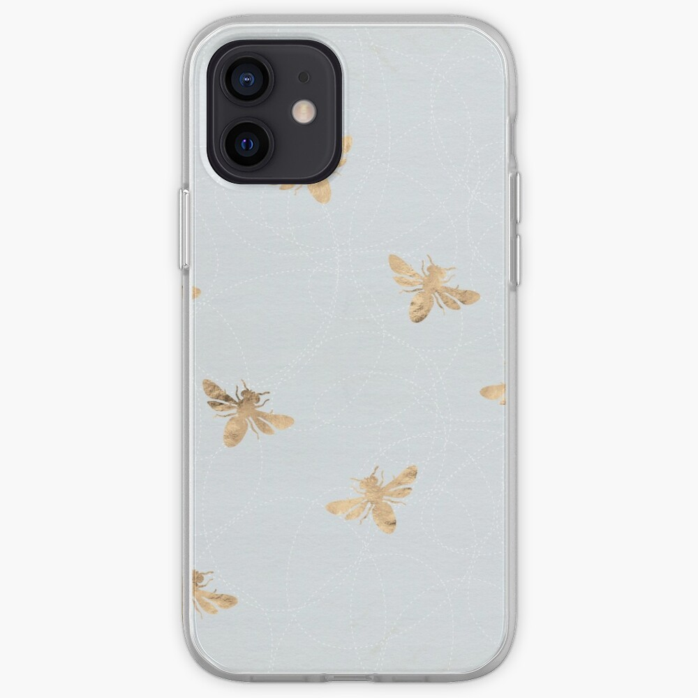 Rose Gold Bees Pattern iPhone Case & Cover
