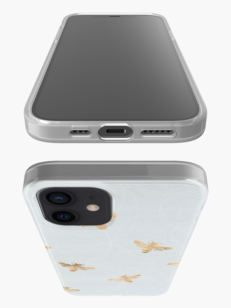 Alternate view of Rose Gold Bees Pattern iPhone Case & Cover