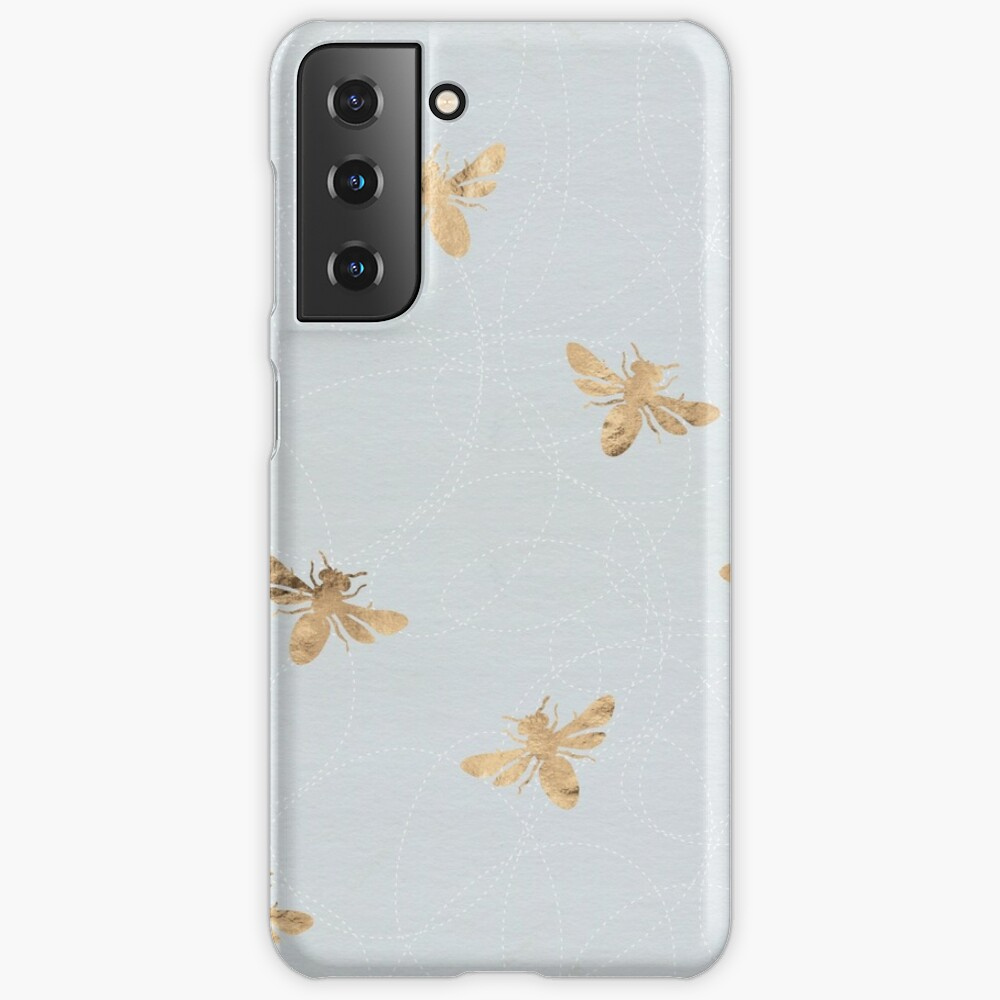 Rose Gold Bees Pattern Case & Skin for Samsung Galaxy