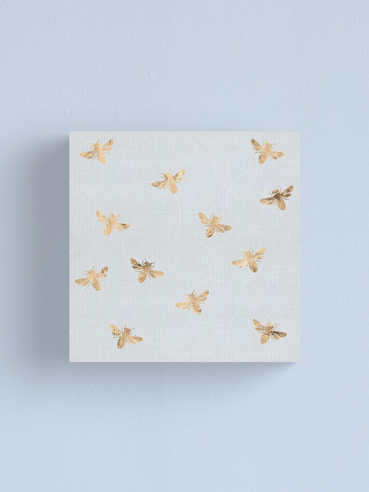 Alternate view of Rose Gold Bees Pattern Canvas Print