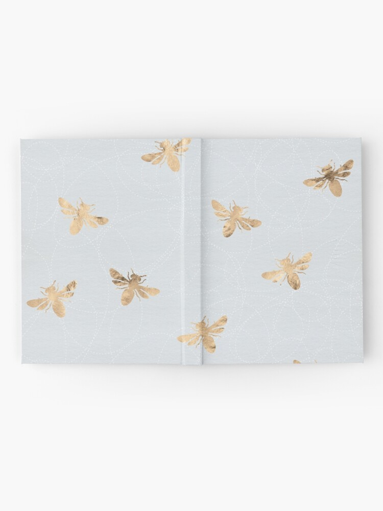 Alternate view of Rose Gold Bees Pattern Hardcover Journal