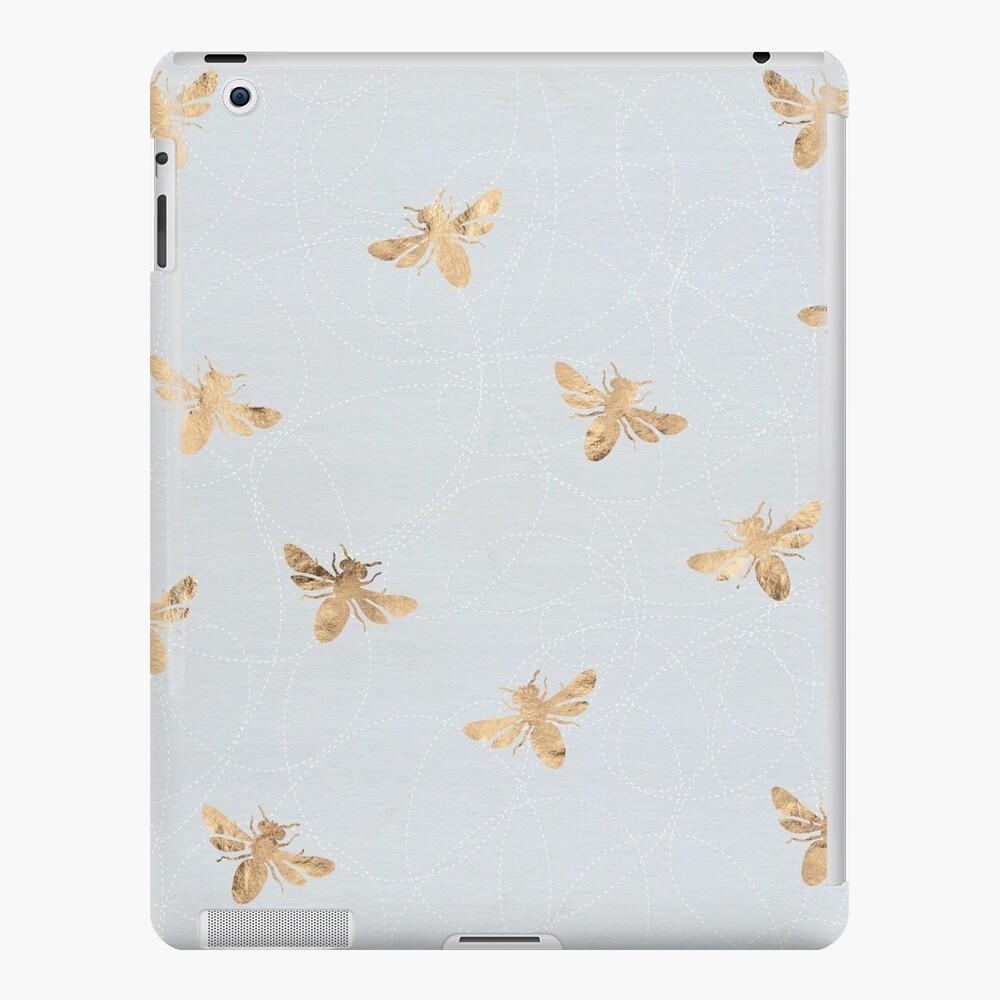 Rose Gold Bees Pattern iPad Case & Skin