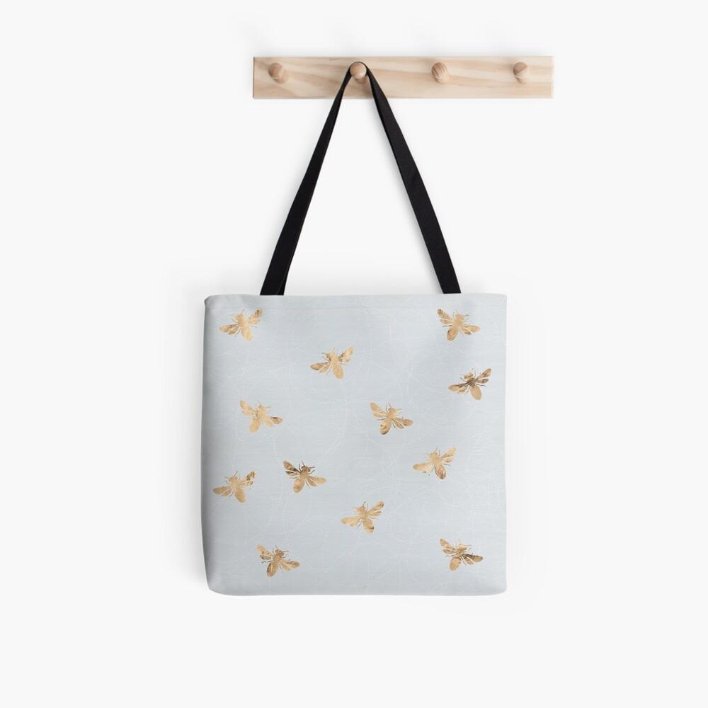 Rose Gold Bees Pattern Tote Bag