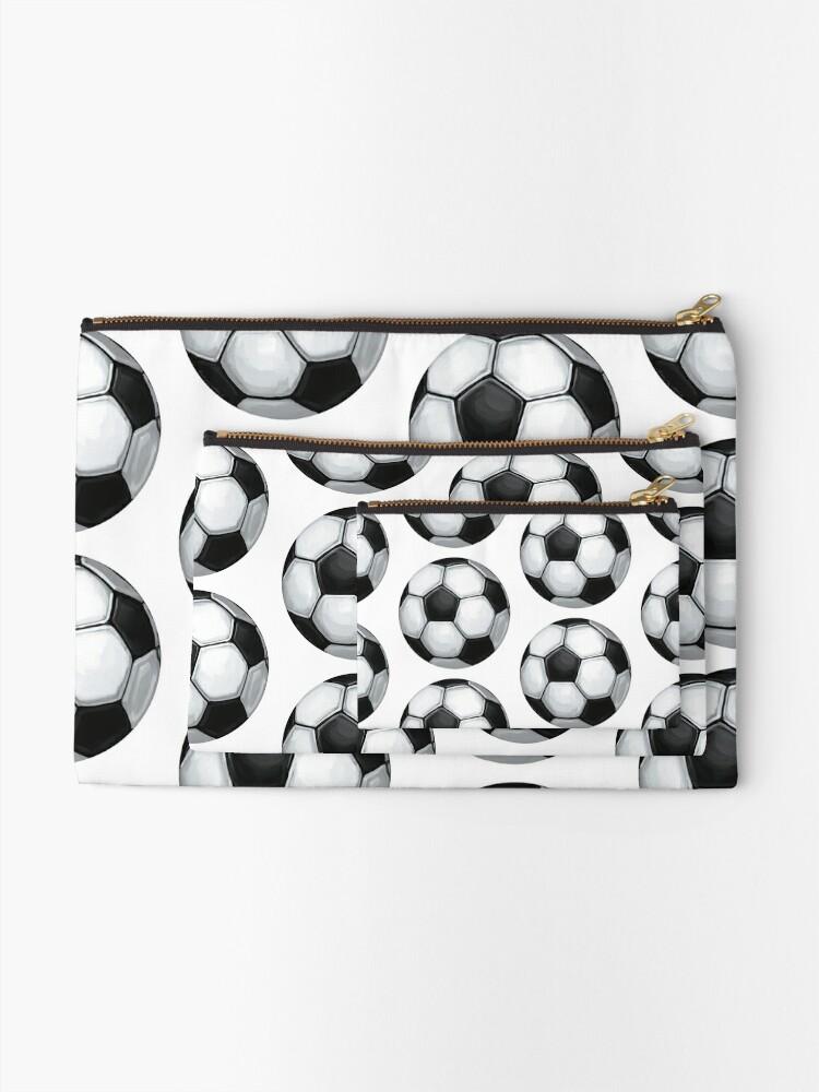 Alternate view of Soccer Ball Zipper Pouch
