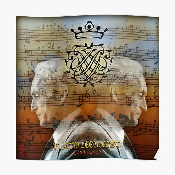 """IN MEMORIAM"" . GUSTAV LEONHARDT Poster"