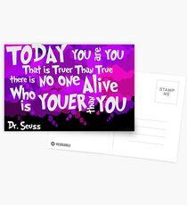 Dr. Seuss Youer Than You Postcards