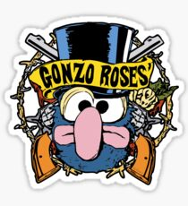 Gonzo Roses Sticker