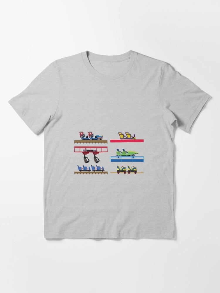 Alternate view of Kentucky Kingdom Coaster Cars Essential T-Shirt
