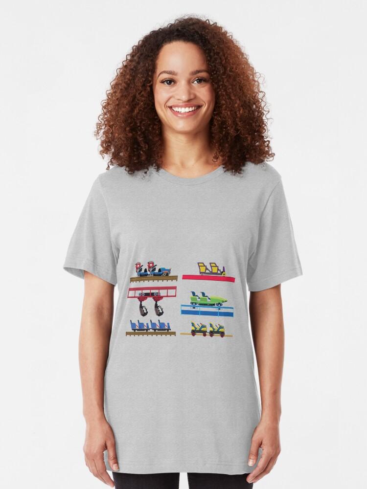 Alternate view of Kentucky Kingdom Coaster Cars Slim Fit T-Shirt