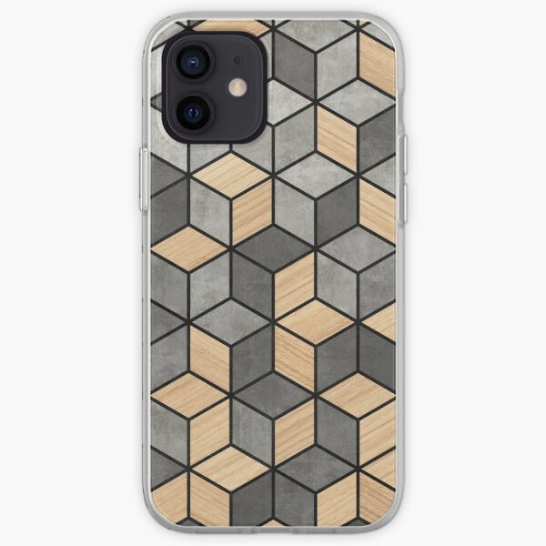Concrete and Wood Cubes iPhone Soft Case