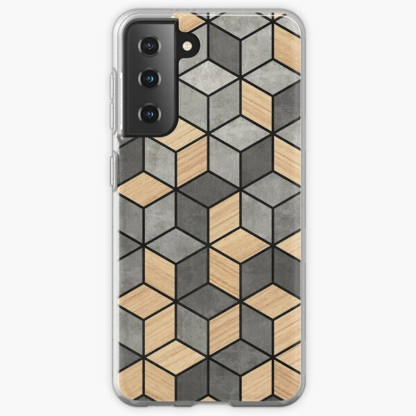 Concrete and Wood Cubes Samsung Galaxy Soft Case