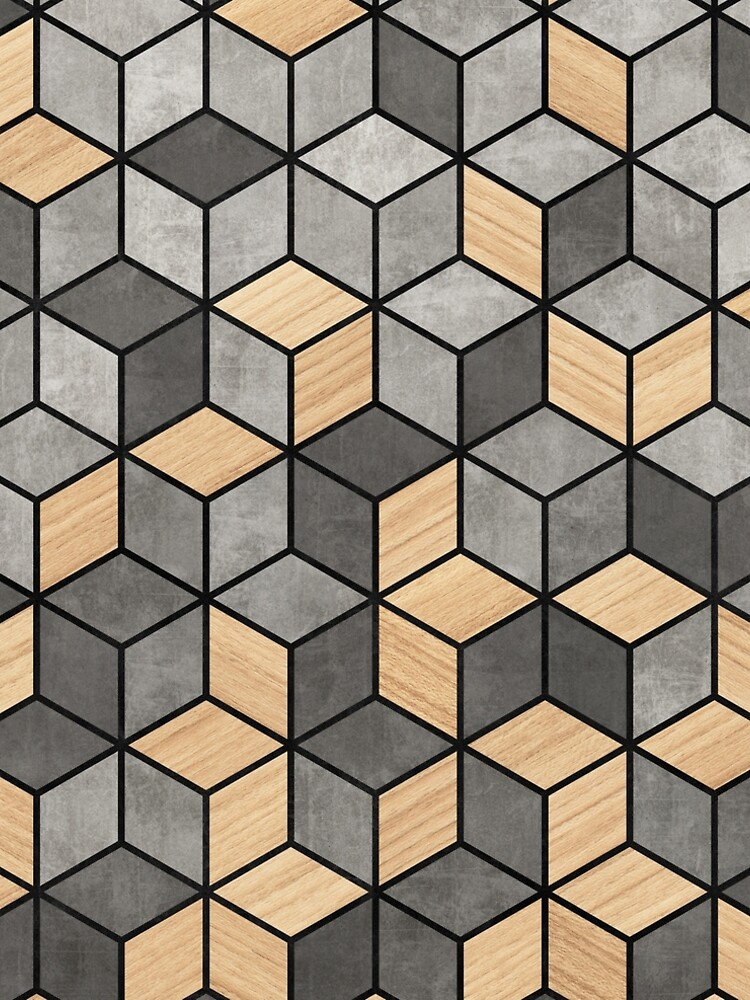 Concrete and Wood Cubes by ZoltanRatko
