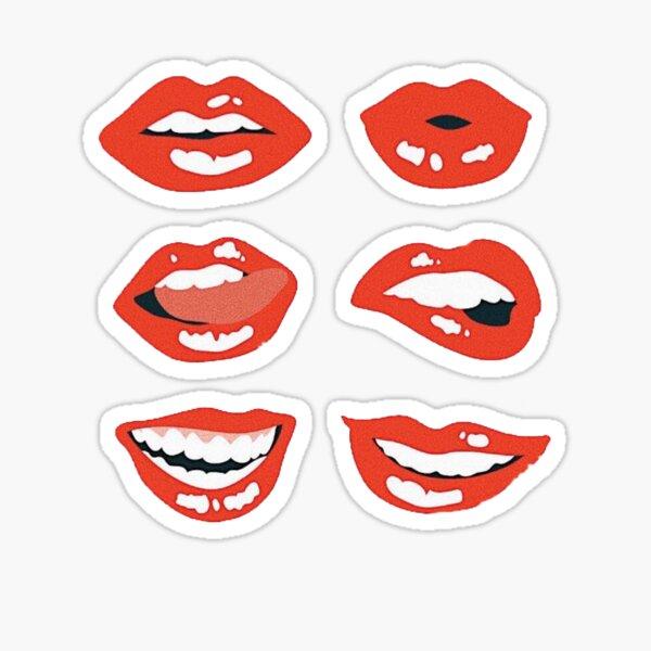 Variété de lèvres Sticker