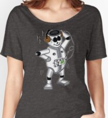 retro robot -the groover t-shirt Women's Relaxed Fit T-Shirt