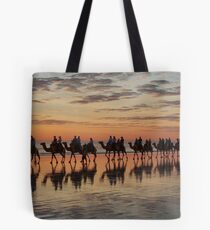Camel Train Cable Beach. Tote Bag