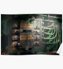 Steampunk - Naval - Electric - Lighting control panel Poster