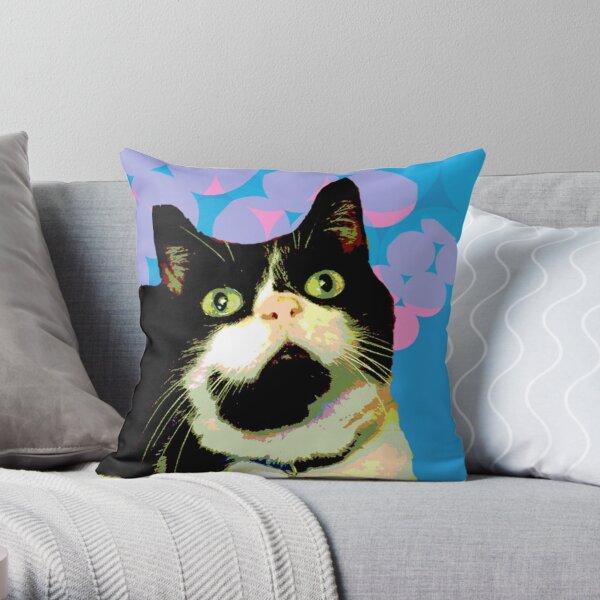 Meowmeow Throw Pillow