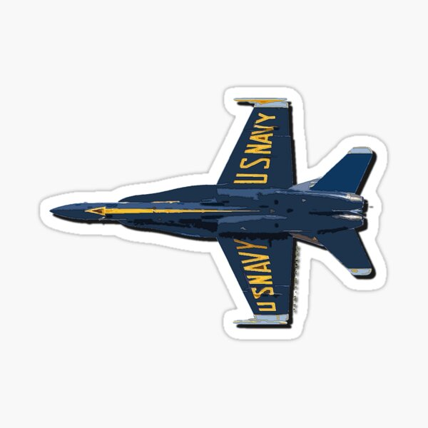 Blue Angel F-18 Sticker