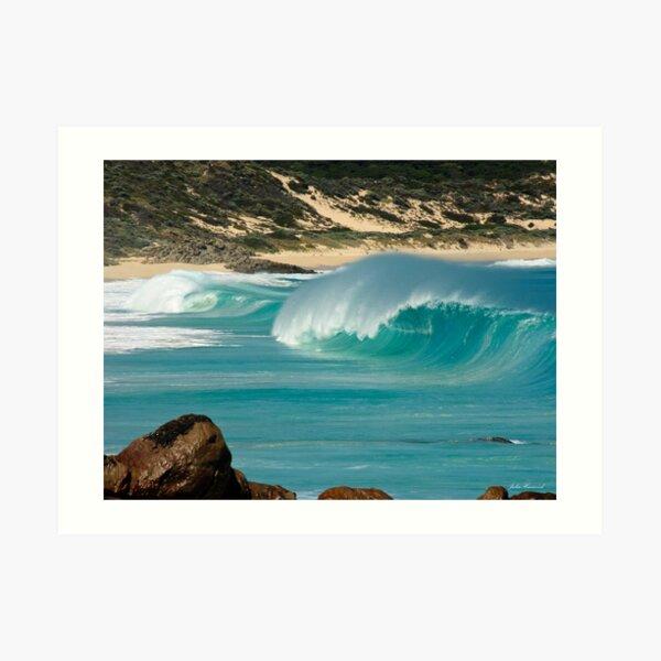 """Surf's Up"" at Injinup, Western Australia Art Print"