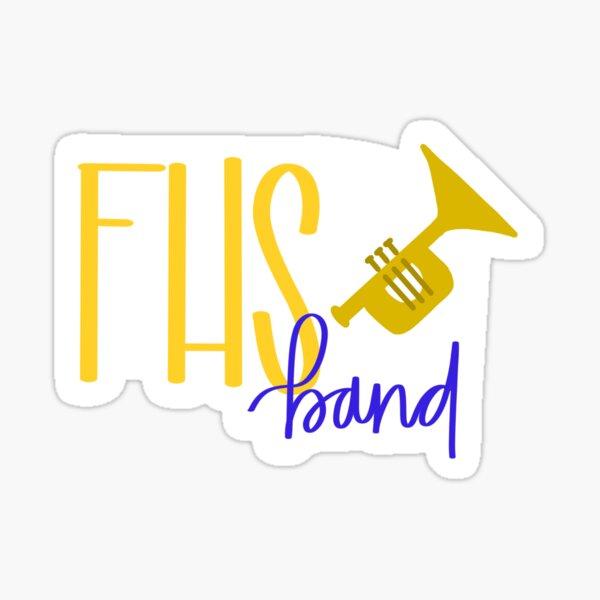 FHS Band- Trumpet sticker Sticker