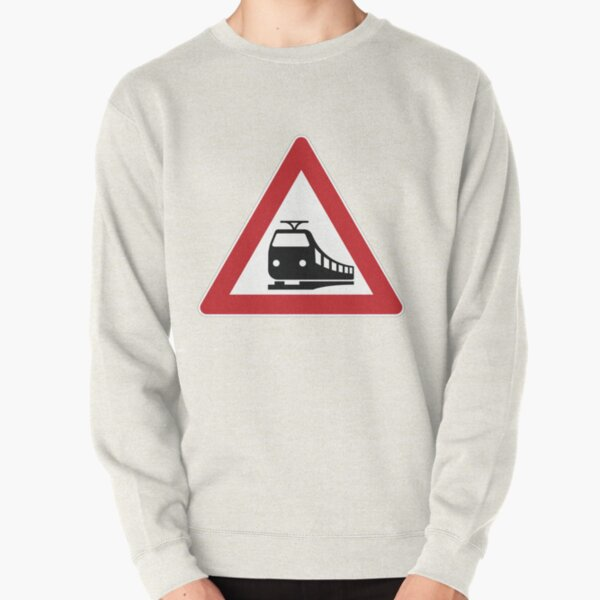 Unrestricted level crossing traffic sign Pullover Sweatshirt