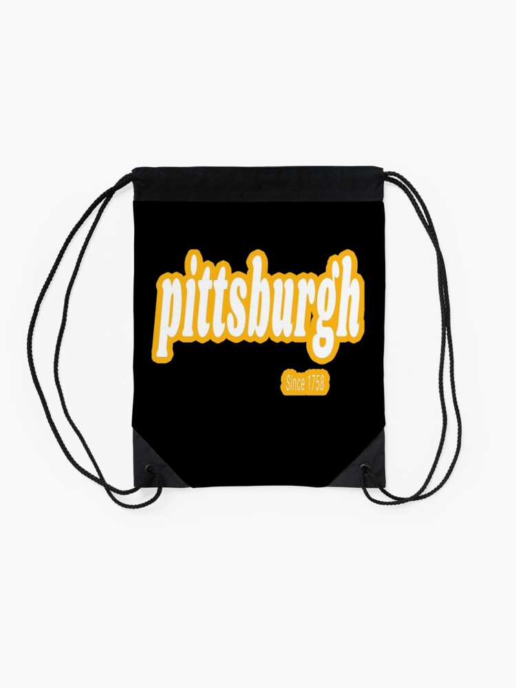 Alternate view of Pittsburgh Since 1758 Retro 2 Shirts Stickers Gifts Drawstring Bag
