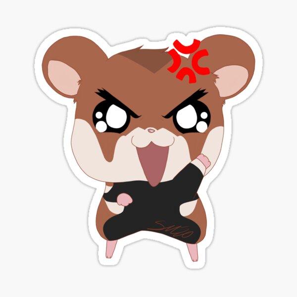 Feisty Hamster Single Sticker