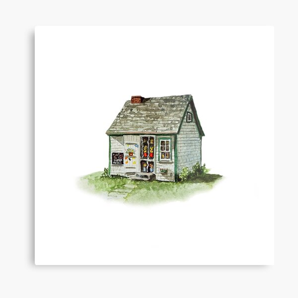 Maud Lewis House - watercolour painting Metal Print