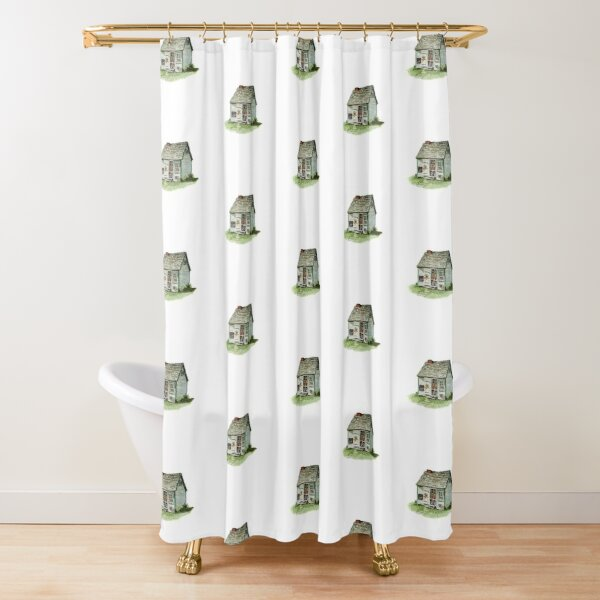 Maud Lewis House - watercolour painting Shower Curtain