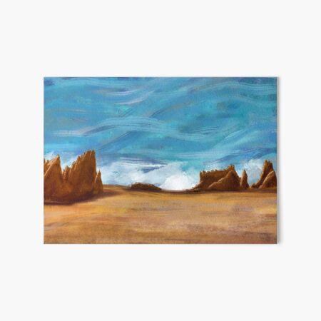 Mesa Rocks Art Board Print