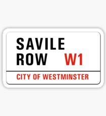 Savile Row, London Street Sign, UK Sticker