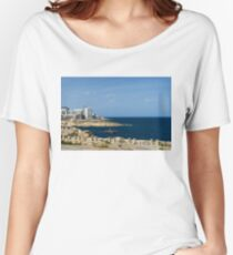 Postcard from Malta - the Old and the New Women's Relaxed Fit T-Shirt