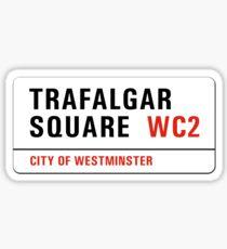 Trafalgar Square, London Street Sign, UK Sticker