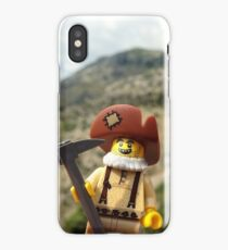 Gold Brick Miner Lego minifigure  iPhone Case/Skin