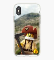 Gold Brick Miner Lego minifigure  iPhone Case
