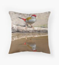 RED-BROWED FIRETAIL Throw Pillow