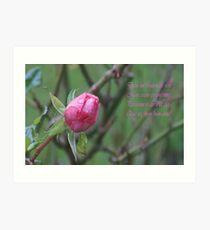 Dans un Bouton de Rose Art Print
