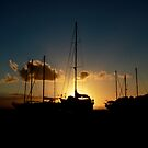Sunset Boats by Stephen Monro